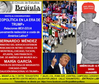 Invitación Conversatorio Relaciones Mex-USA.